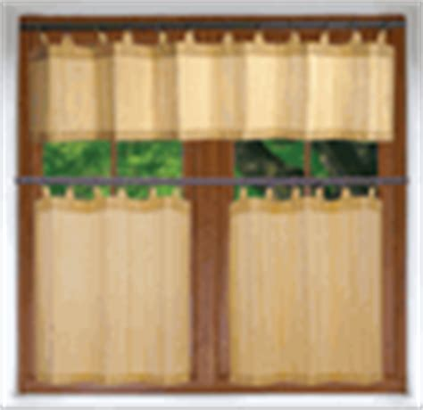bamboo kitchen curtains outdoor versailles stainless steel duo tension outdoor curtain rod only 11 99