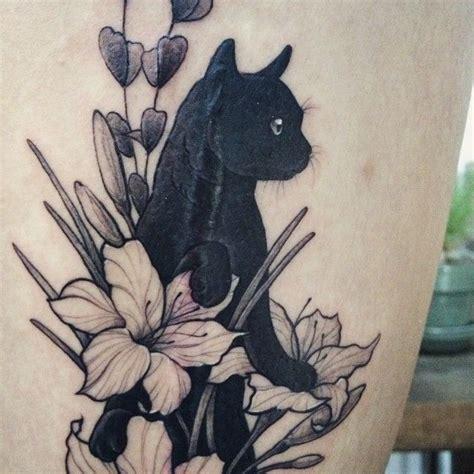 tattoo cat flowers scar cover up tattoo by tattooist doy tattoos