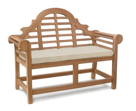 small bench with cushion lutyens bench cushion small lindsey teak