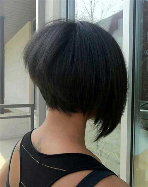 the swing short hairstyle short n the back and long in te frlnt at a angle back view of short bob haircuts bob hairstyles 2015