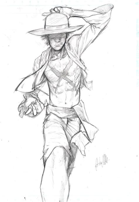 Monkey D Luffy Pencil Anime monkey d luffy pencils by anthonygonzalesclark on