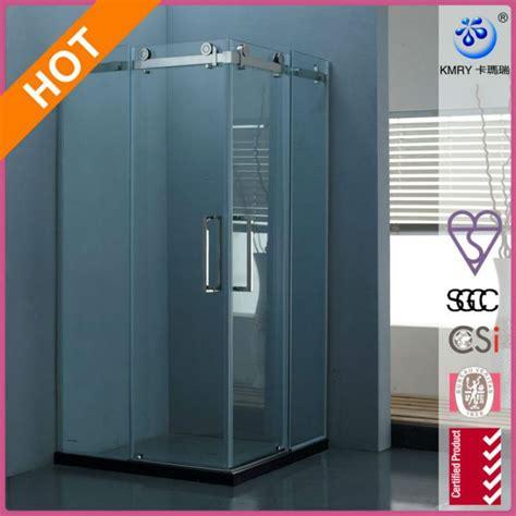 Frameless Shower Door Hardware Supplies Frameless Sliding Shower Door 36 X 48 In With 375 In Clear Glass And Chrome Hardware Kt8112
