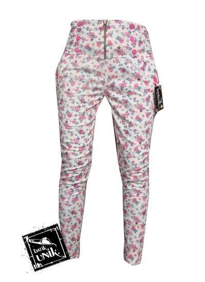 Bawahan Celana Panjang Wanita Murah celana batik wanita panjang motif kembang rambat bawahan