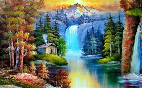 awesome home garden painting share on facebook imagefullycom beautiful nature lake painting share on facebook images