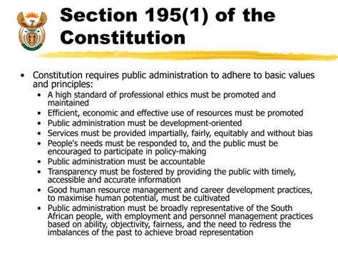 section 1 of the constitution ppt dpsa medium term strategy 2009 2012 powerpoint