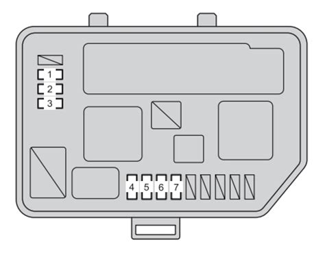 2007 yaris fuse box diagram toyota yaris fuse box location