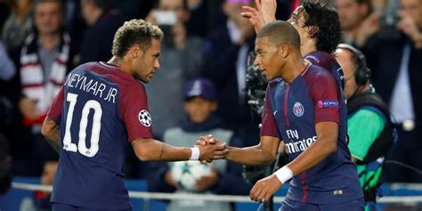 kylian mbappe and neymar chions league psg s neymar and mbapp 233 tear bayern