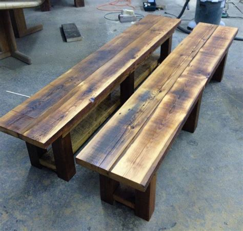 custom wood benches 8 best images about reclaimed wood benches on pinterest