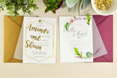 diy wedding invitations printing 4 ways to diy vellum wedding invitations cards