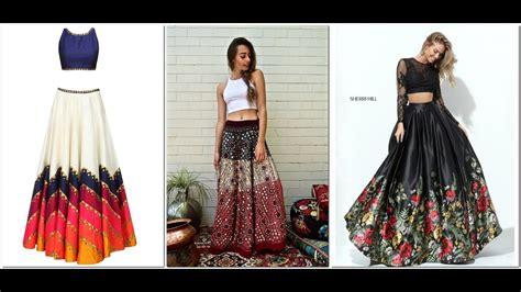 best designers latest crop top designer lehenga 2017 models youtube