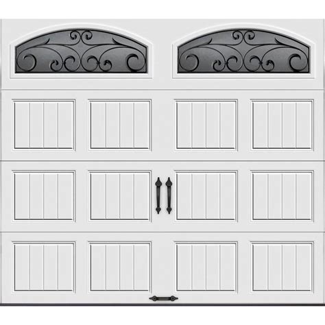 white garage doors clopay gallery collection 8 ft x 7 ft 6 5 r value