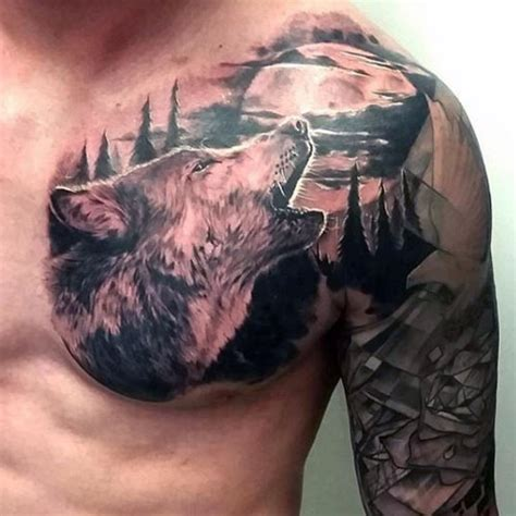 wolf tattoos for men men s tattoo ideas best cool