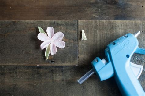 How To Make Cherry Blossoms Out Of Paper - crepe paper cherry blossom branch 183 how to make a paper