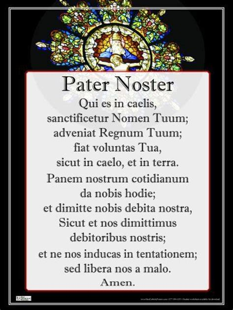 the lord s prayer is so beautiful in latin faith hope