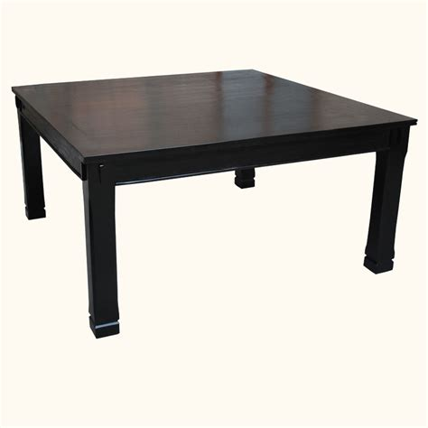 Square Wood Dining Table For 8 Rustic Square Dining Table For 8 Seater Black Solid Wood Furniture Ebay