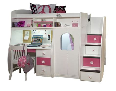 bunk beds for girls with desk cool bunk beds for teens furniture collection berg