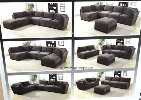 6 modular sectional sofa costco 6 modular fabric sectional 899 99 frugal