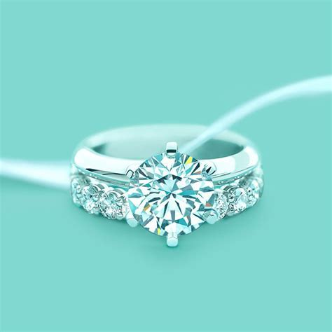 The Tiffany® Setting engagement ring with a shared setting