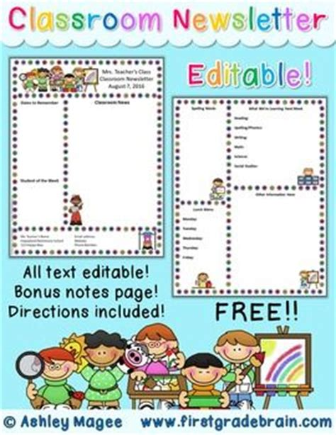 editable newsletter templates free 17 best ideas about kindergarten newsletter on