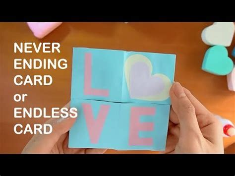 how to make endless card how to make never ending card endless card origami fold