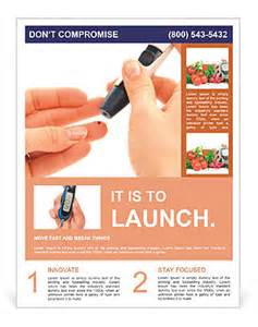 analysis on diabetes flyer template amp design id 0000008535