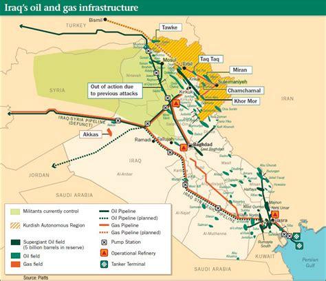 map of iraqi fields kurdish forces move to protect iraq s kirkuk hub