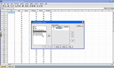 Spss Analysis Report Writing by Spss Tutorial Paired Sle T Test