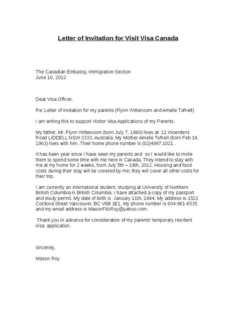 sle invitation letter for visa to india letter of invitation for visit visa to canada from india tomyumtumweb