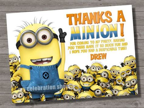 printable minion thank you cards minion thank you quotes quotesgram