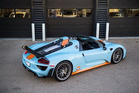 porsche 918 spyder for sale for sale one stunning gulf livered porsche 918 spyder
