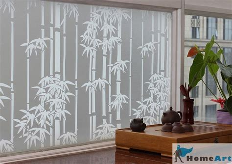 Glass Etching Designs For Kitchen by Privacy Window Film Bamboo Decorative Glass Frosted 36 Quot X2