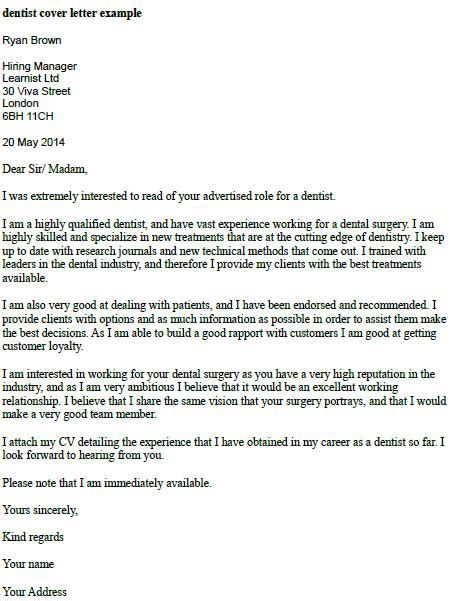 Dentist Cover Letter by Dentist Cover Letter Exle Forums Learnist Org