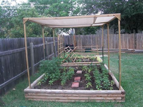 Raised Garden With A Shade Cloth To Protect The Veggies Sun Vegetable Garden