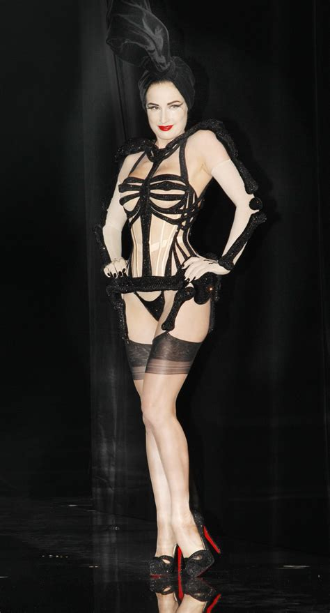 Gaultier Show A Come True For Dita by Dita Teese Strips For Gaultier