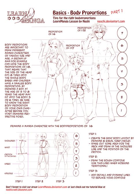 anime drawing body proportions