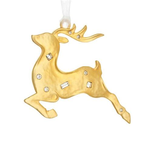 2015 lunt golden reindeer ornament