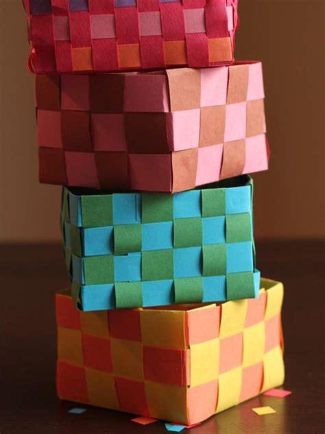 Paper Basket Craft - mishloach manot baskets for purim craft