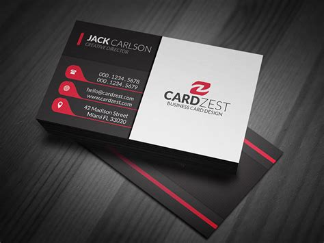 business card design ideas template subtle vertical lines business card template 187 cardzest