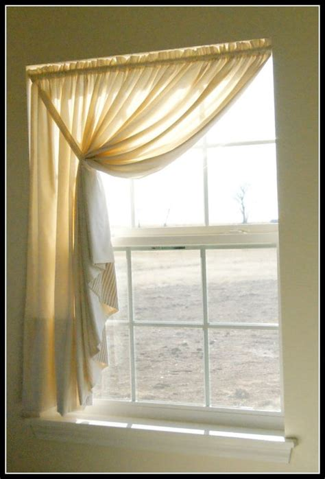 muslin curtain diy muslin swag curtain curtains pinterest the shape