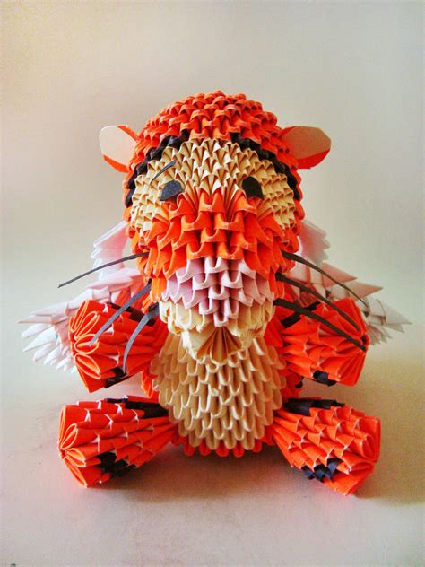 3d origami eeyore tutorial 3d origami winged tigger by weezaround on deviantart