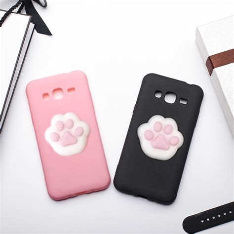 Samsung Galaxy J5 2016 3d Cat Softcase Silicon Cover mrgo for samsung galaxy j3 2016 cover coque silicone