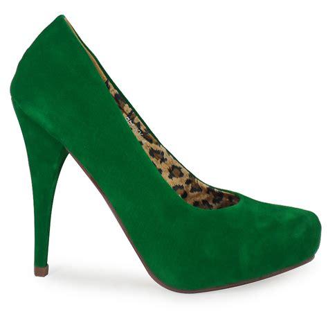 new womens green suede high stiletto heel court