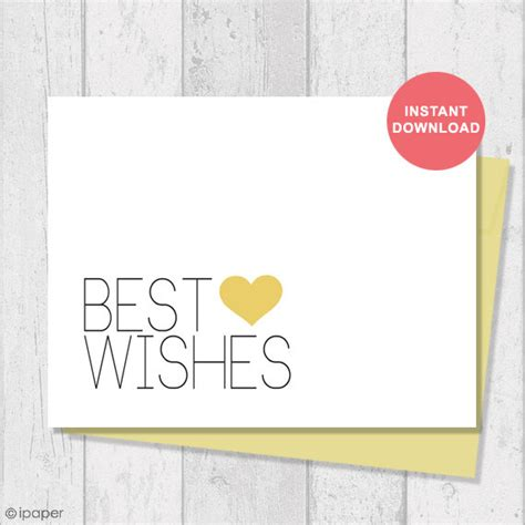 best wishes card template free printable card instant digital template note