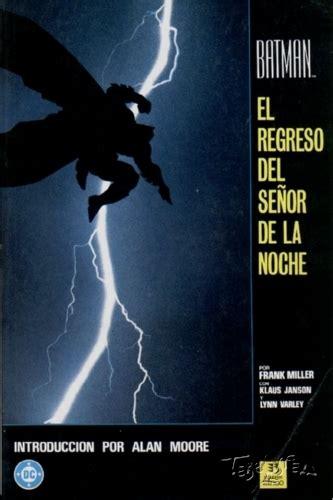 libro batman el regreso del batman 1988 zinco el regreso del se 209 or de la noche tebeosfera