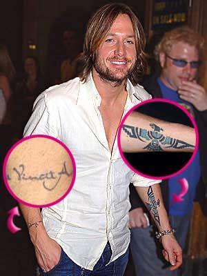 keith urban wrist tattoo terfobamat vincit omnia wrist