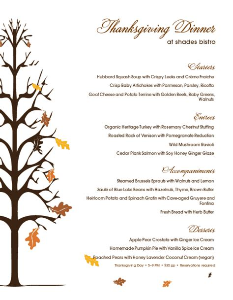 thanksgiving day menu template traditional thanksgiving menu thanksgiving menus