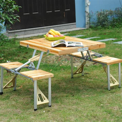 Folding Wooden Picnic Table Save 50 On This Portable Folding Wooden Picnic Table Free Shipping Midgetmomma