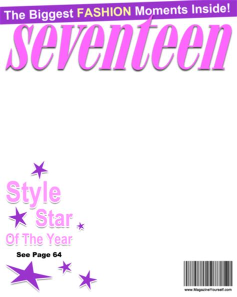seventeen magazine cover template create seventeen magazine covers