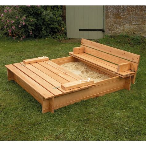 sandbox with bench pdf diy wooden sandbox plans download woodwork artist