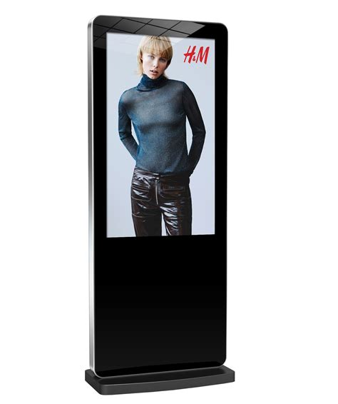 Digital Signage Murah 50 Inch Android System Wifi Lan Hdmi freestanding digital advertising monument poster